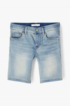 Bermuda en jean délavé Slim fit en coton stretch THEO Name It