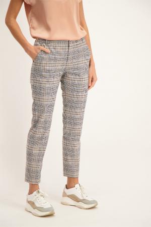 Pantalon imprimé à carreaux avec poches devant Signe Nature
