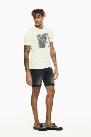 T-shirt uni avec impression devant en coton stretch Garcia
