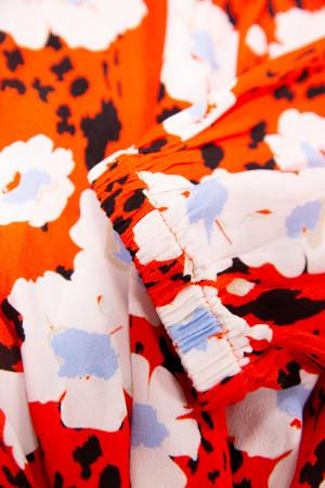 Robe courte fleurie avec ceinture à nouer Garcia