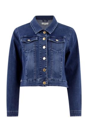 Veste en jean poches poitrines avec rabats et boutons Signe Nature