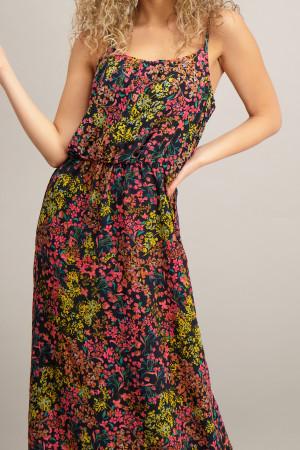 Robe longue fleurie fines bretelles réglables NOVA Only
