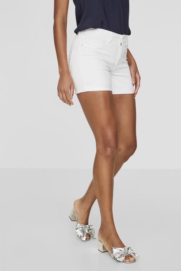 Bermuda en jean délavé en coton stretch HOT SEVEN Vero Moda