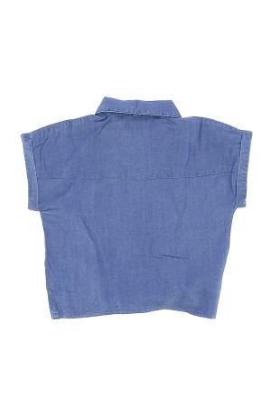 Chemisier uni avec poche poitrine et nœud dans le bas Cars jeans