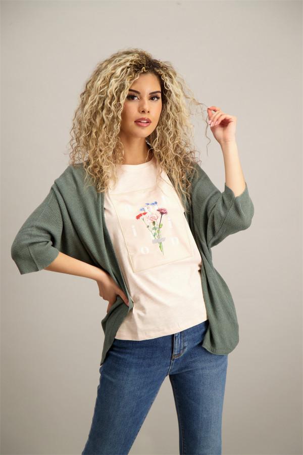 ec6078e2388e T-shirt en coton imprimé devant Will Tee Jack   Jones
