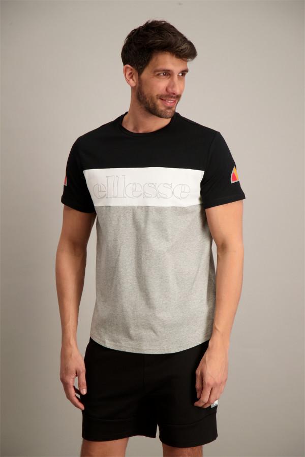 T-shirt tricolore avec logo devant en coton POG BINO Ellesse