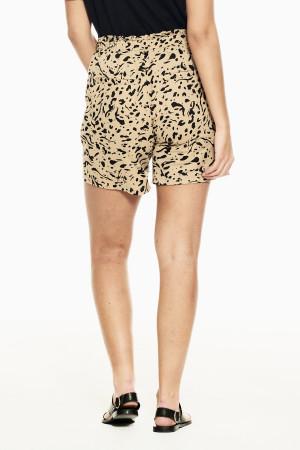 Short imprimé léopard avec ceinture à nouer Garcia