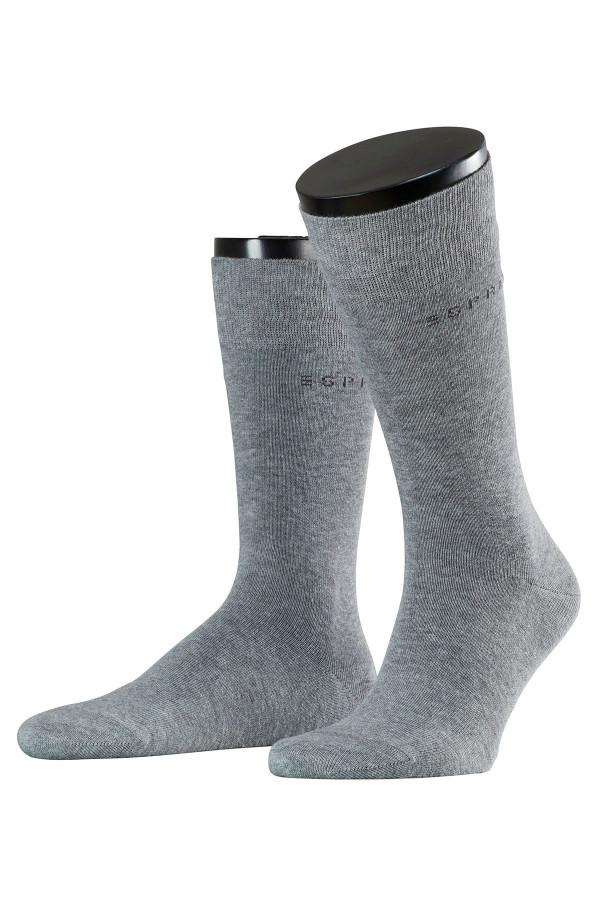 Chaussettes homme unies avec logo Esprit