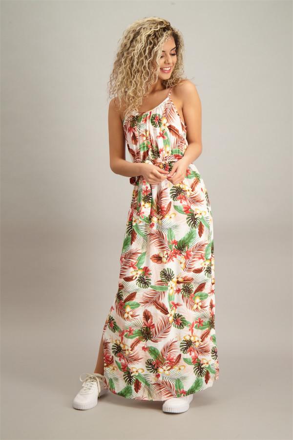 Robe longue fleurie avec ceinture à nouer SIMPLY Vero Moda