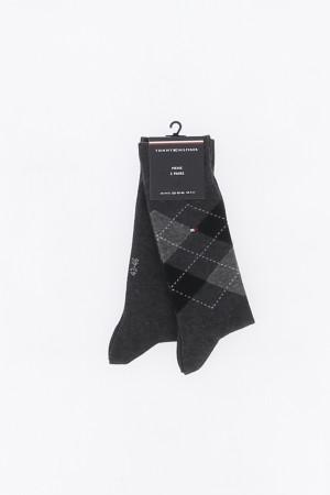 Chaussettes unies et à carreaux avec logo Tommy Hilfiger