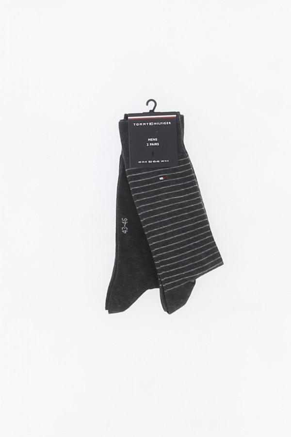 Chaussettes unies et rayées avec logo Tommy Hilfiger