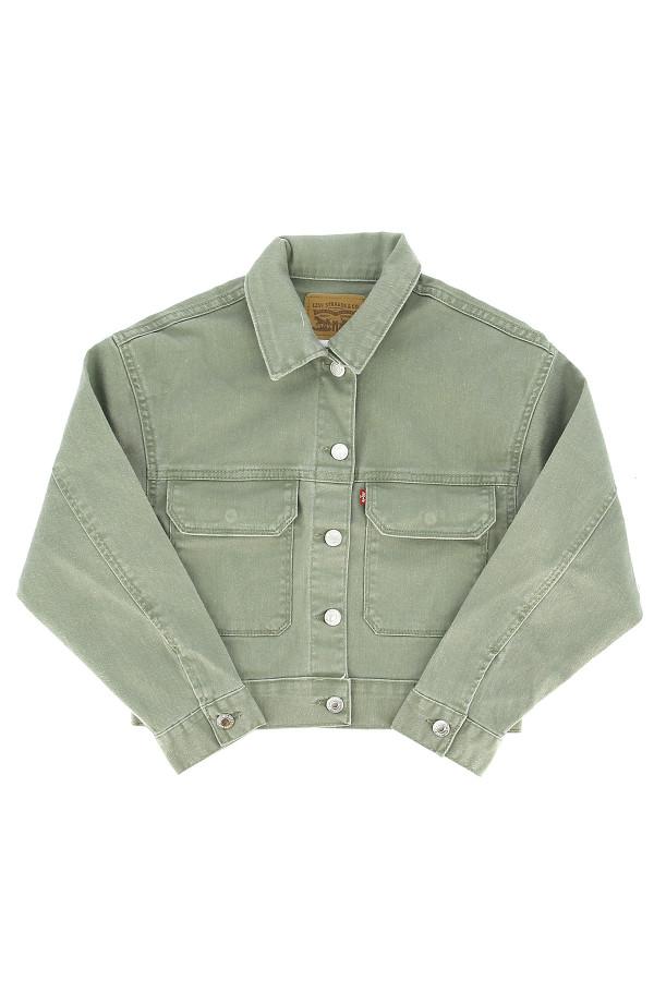 Veste en jean uni avec poches poitrine en coton stretch Levi's