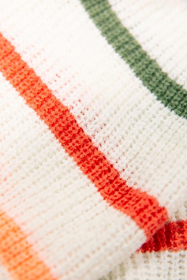 Pull rayé multicolore en maille bords côtelés Garcia