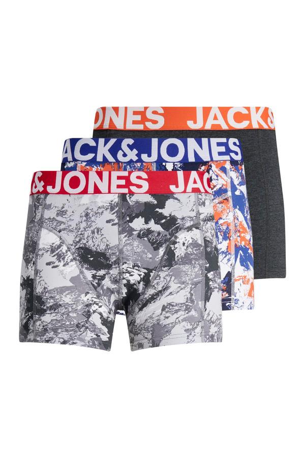 Boxer uni ou imprimé taille élastique avec logo CAMO Jack & Jones