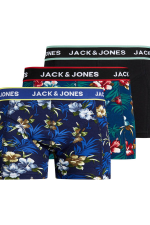 Pack de 3 boxers imprimés ou uni FLOWER Jack & Jones