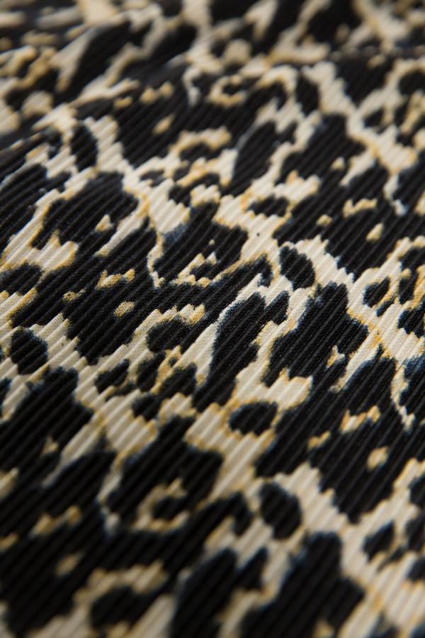 Jupe mi-longue plissée imprimée sur l'ensemble Garcia