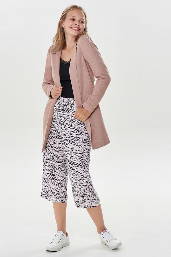 Veste chinée mi-longue modèle ouvert avec poches SOHO Only