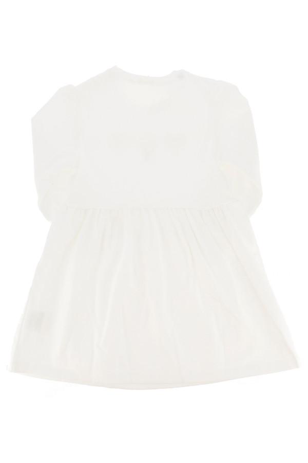 Robe blanche évasée coeurs appliqués devant Gymp
