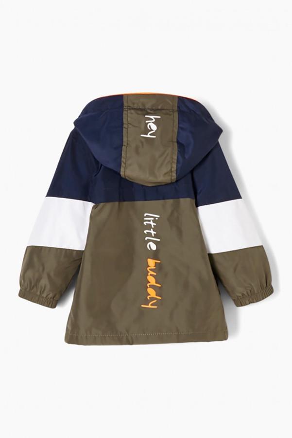 Veste à capuche en nylon tricolore avec impression au dos S.Oliver