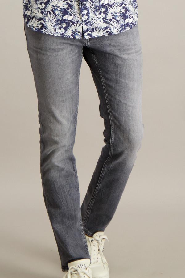 Jean slim gris délavé modèle 5 poches SCANTON Tommy Hilfiger