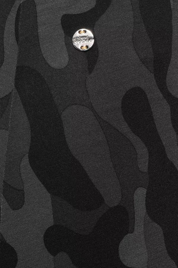 Jupe mi-longue imprimé camouflage taille élastiquée Street One