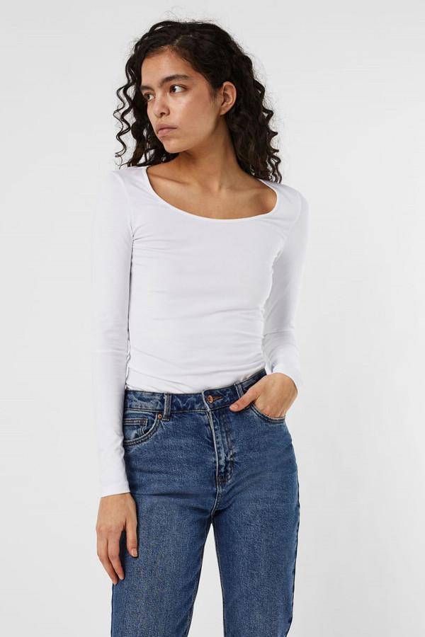 T-shirt uni basique en coton stretch MAXI Vero Moda