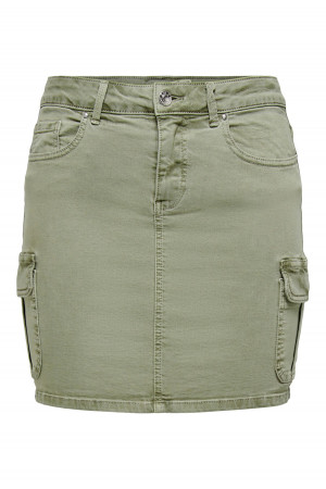 Jupe cargo unie en coton stretch MISSOURI Only