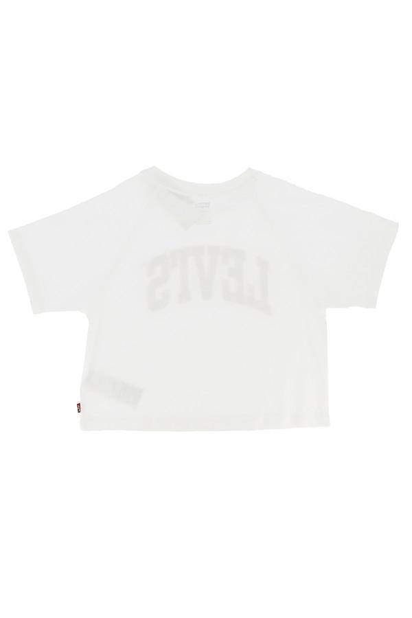 T-shirt uni avec logo imprimé devant en coton manches courtes Levi's