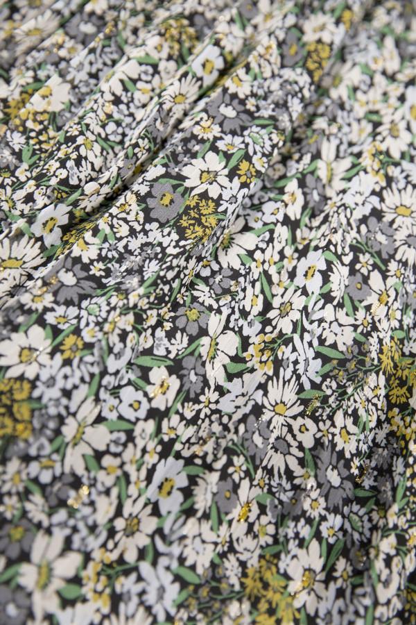 Jupe mi-longue fleurie en voile avec lurex taille élastique Garcia