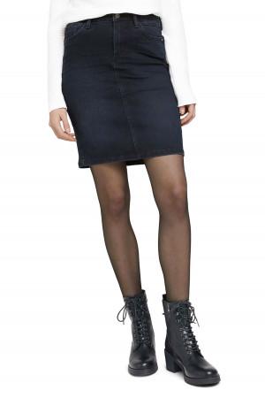 Jupe courte en jean foncé modèle 5 poches Tom Tailor