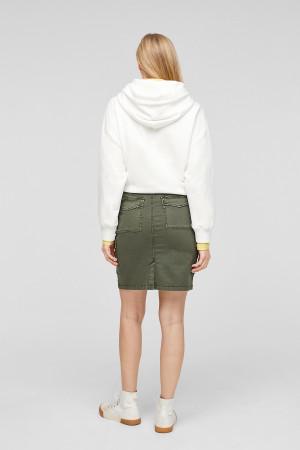 Jupe unie courte avec poches à rabats S.Oliver Femme