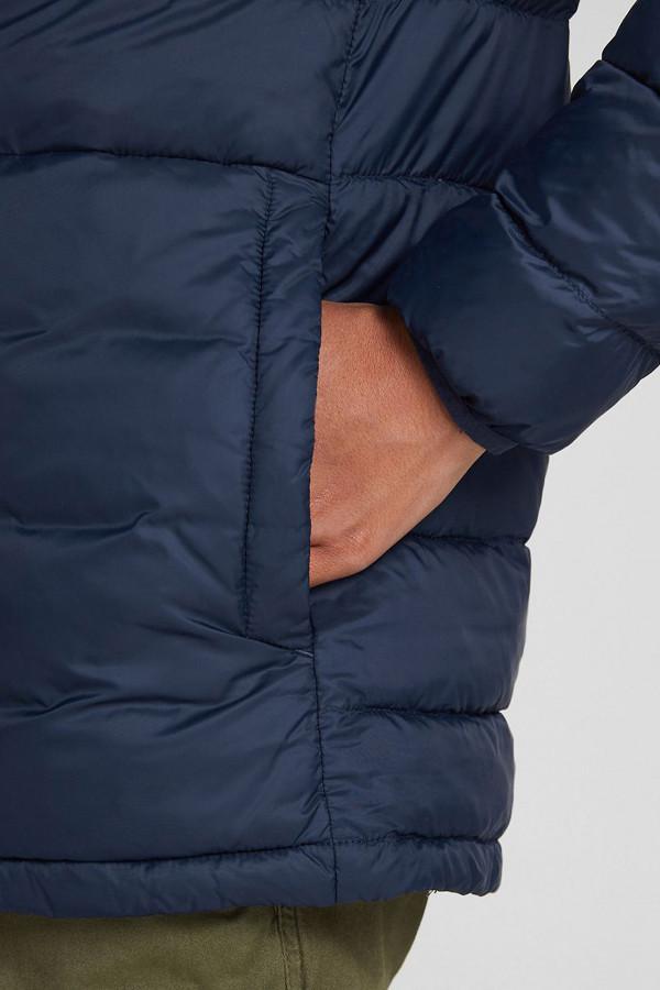 Veste à capuche unie en nylon badge poitrine PUFFER Jack & Jones