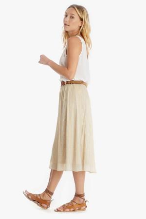 Jupe longue plissée avec lurex taille élastique PINA Le Temps des Cerises