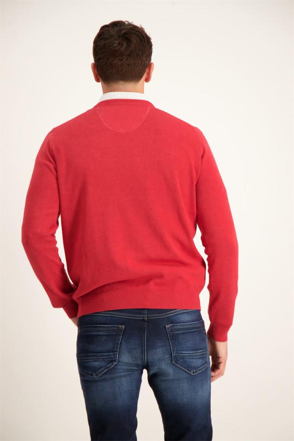 Pull uni en coton avec broderie poitrine Fynch-Hatton