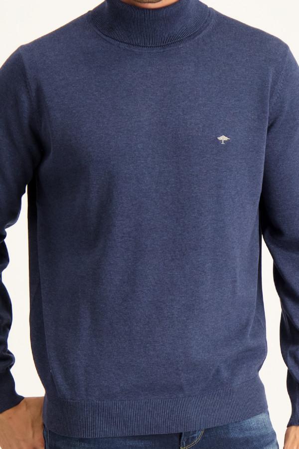 Pull à col roulé en fine maille avec broderie poitrine en coton Fynch-Hatton