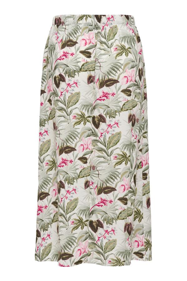 Jupe longue fleurie avec boutons décoratifs NOVA Only