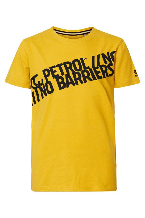 T-shirt en coton imprimé à l'avant Petrol
