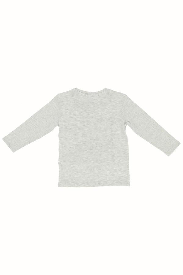 T-shirt chiné en coton avec impression devant Losan