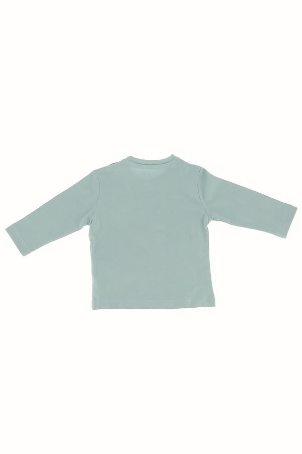 T-shirt manches longues en coton avec impression devant Losan