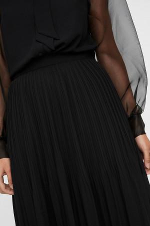 Jupe longue unie en voile plissé taille élastique REEDA Vero Moda