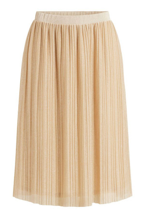 Jupe mi-longue plissée avec lurex PLESMA Vila