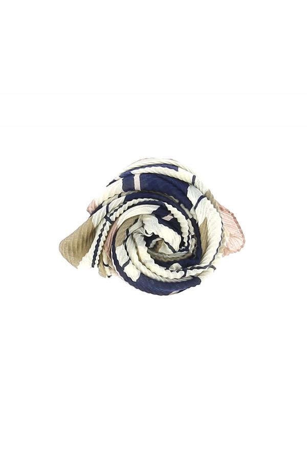 Foulard plissé imprimé à carreaux pour Femme
