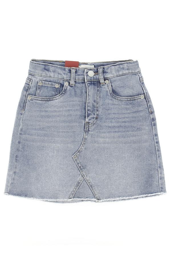 Jupe courte taille haute en jean délavé Levi's