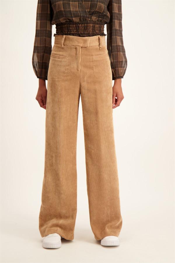 Pantalon uni large en velours côtelé ALBINO Kocca