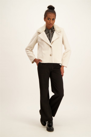 Pantalon Paper-Bag imprimé à carreaux LENA Only