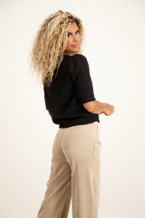 Pantalon noir paper bag Eva Vero Moda