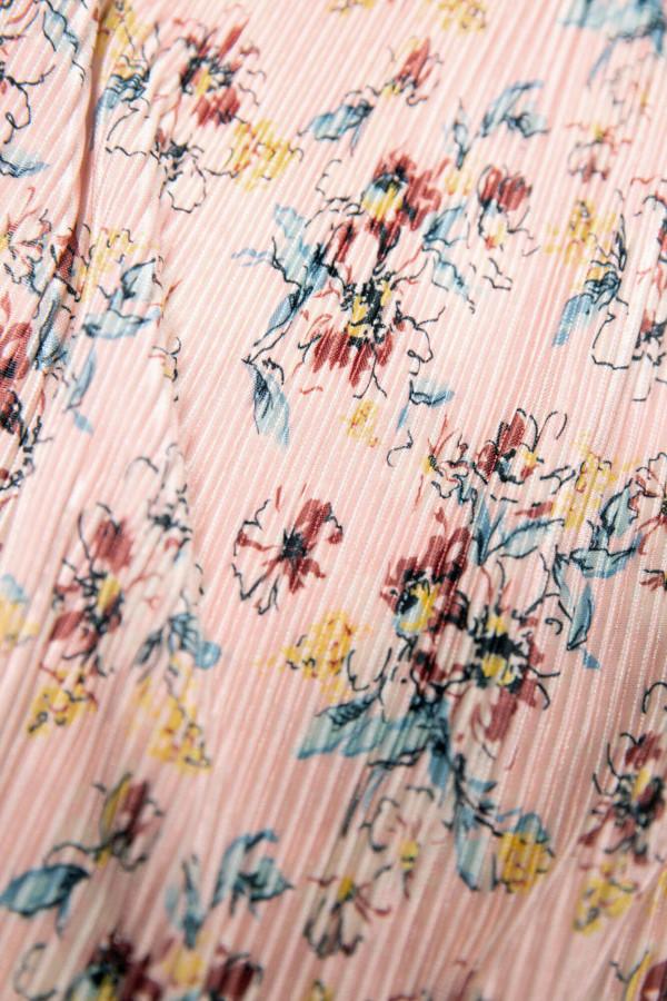 Jupe mi-longue plissée imprimée fleuri taille élastique Garcia