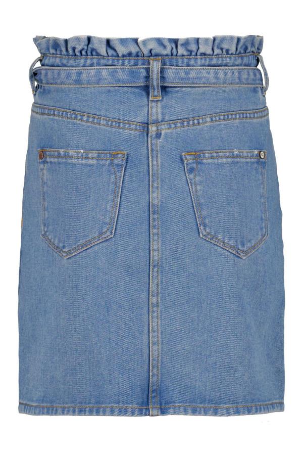Jupe en jean délavée avec ceinture à nouer à la taille Garcia