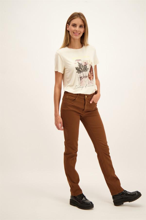 Pantalon uni taille haute coupe droite DREAM Mac