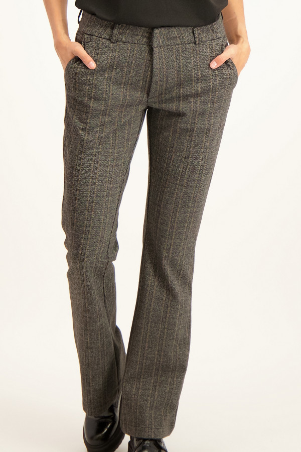 Pantalon bootcut imprimé chevrons JADE CITY Para Mi
